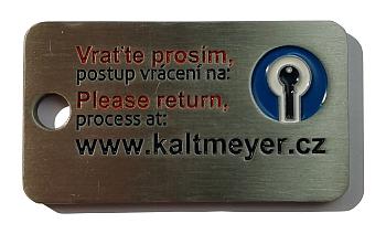 Přívěšek pro službu vrácení klíčů